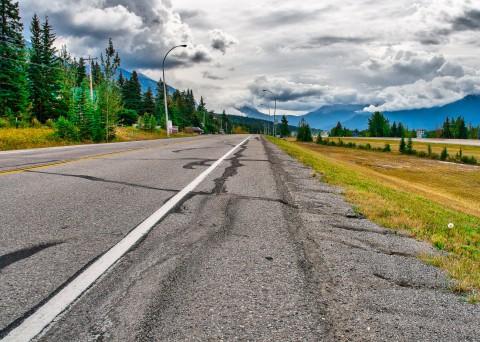 Kanada Highway Rocky Mountains