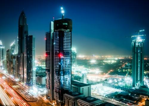 UAE Dubai at night