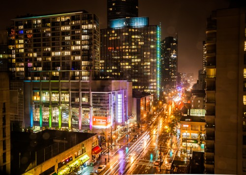 Robson Street at Night