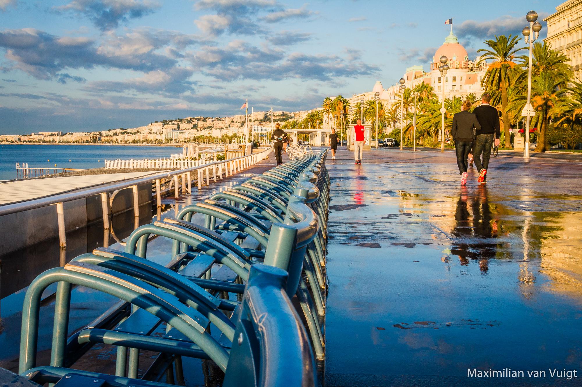 Nizza-Promenade am Morgen