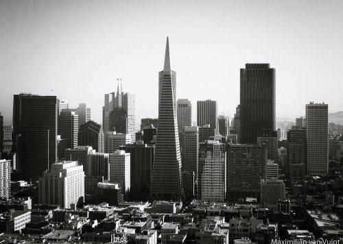 Silhouette von San Fransisco